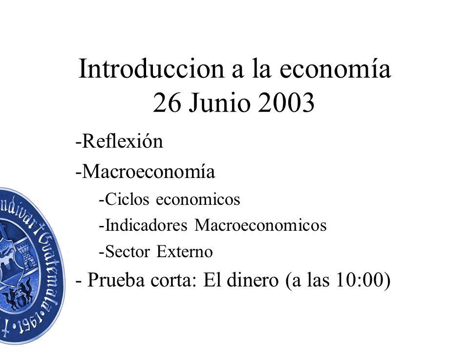 Introduccion a la economía 26 Junio 2003