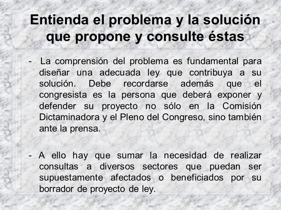 Entienda el problema y la solución que propone y consulte éstas