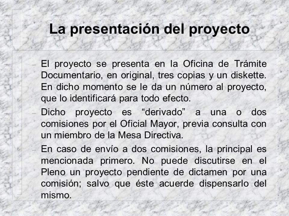 La presentación del proyecto