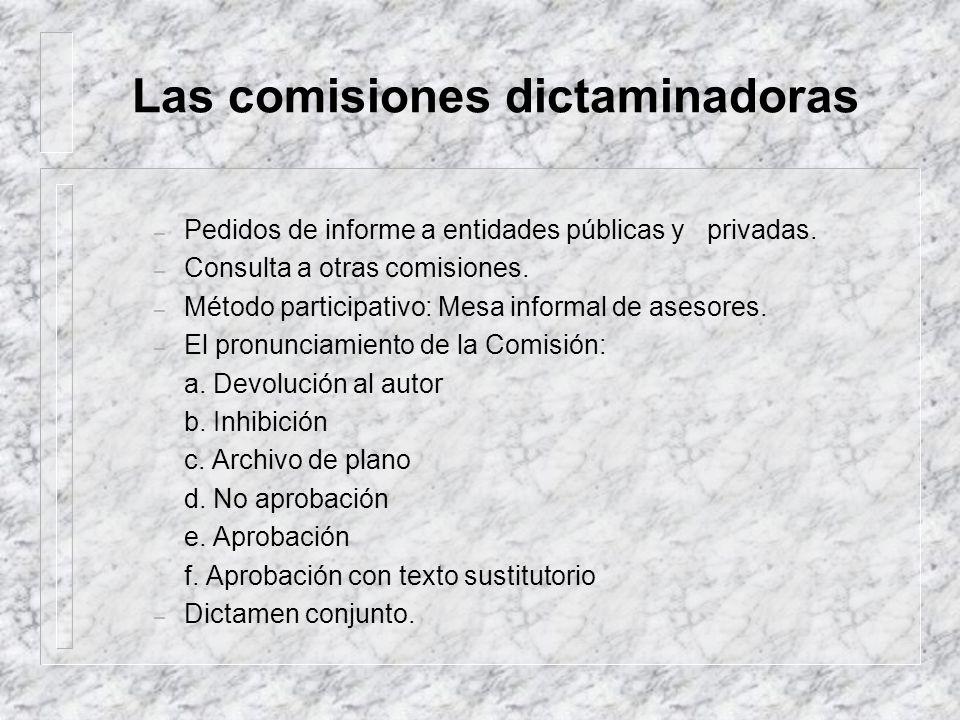 Las comisiones dictaminadoras
