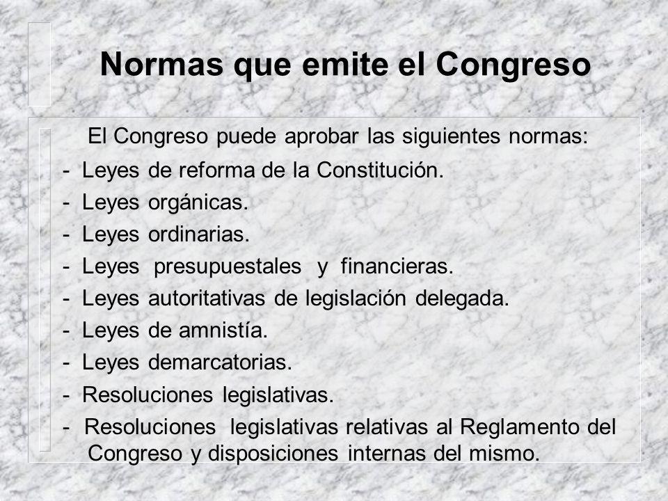 Normas que emite el Congreso