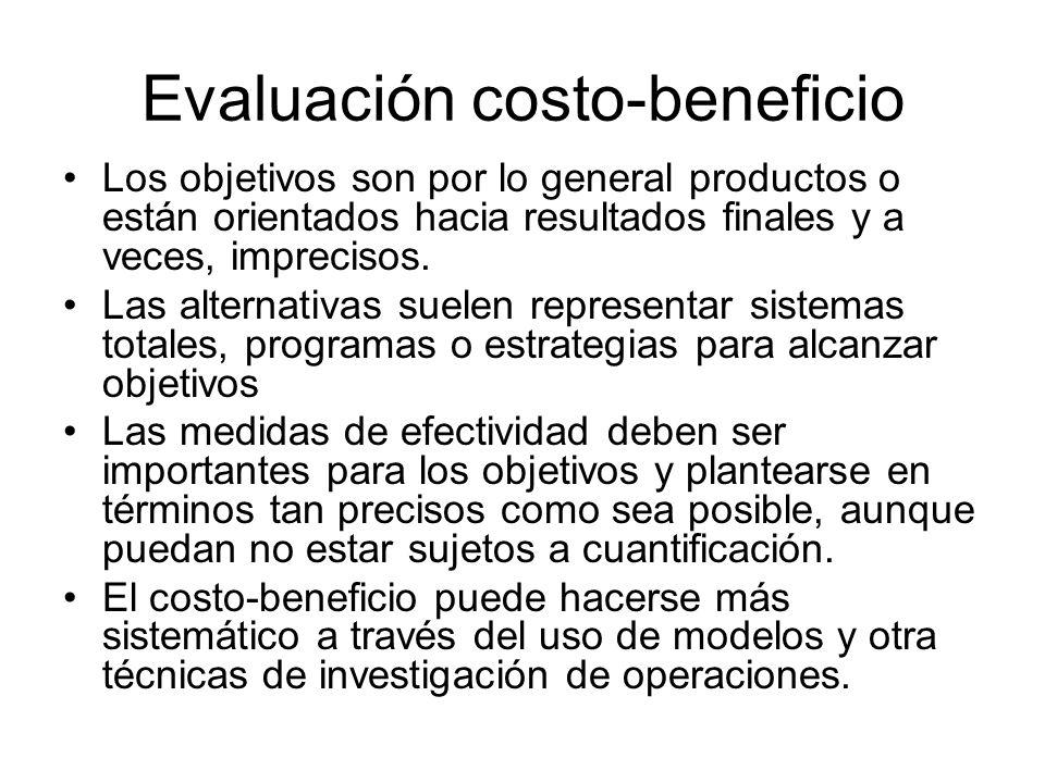 Evaluación costo-beneficio