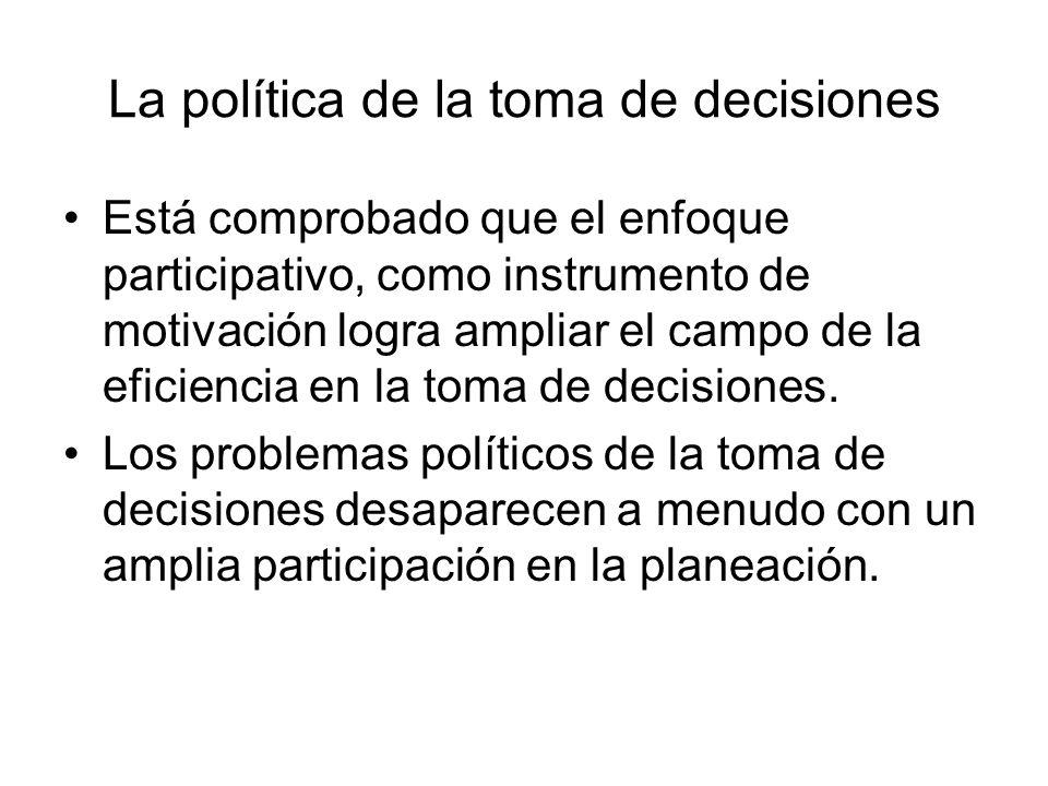 La política de la toma de decisiones