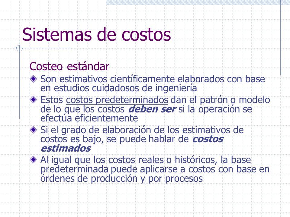 Sistemas de costos Costeo estándar