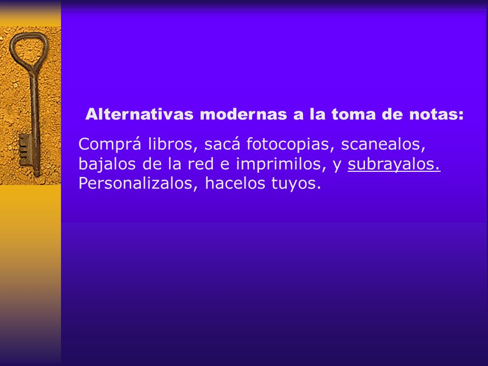 Alternativas modernas a la toma de notas: