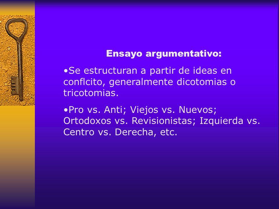 Ensayo argumentativo: