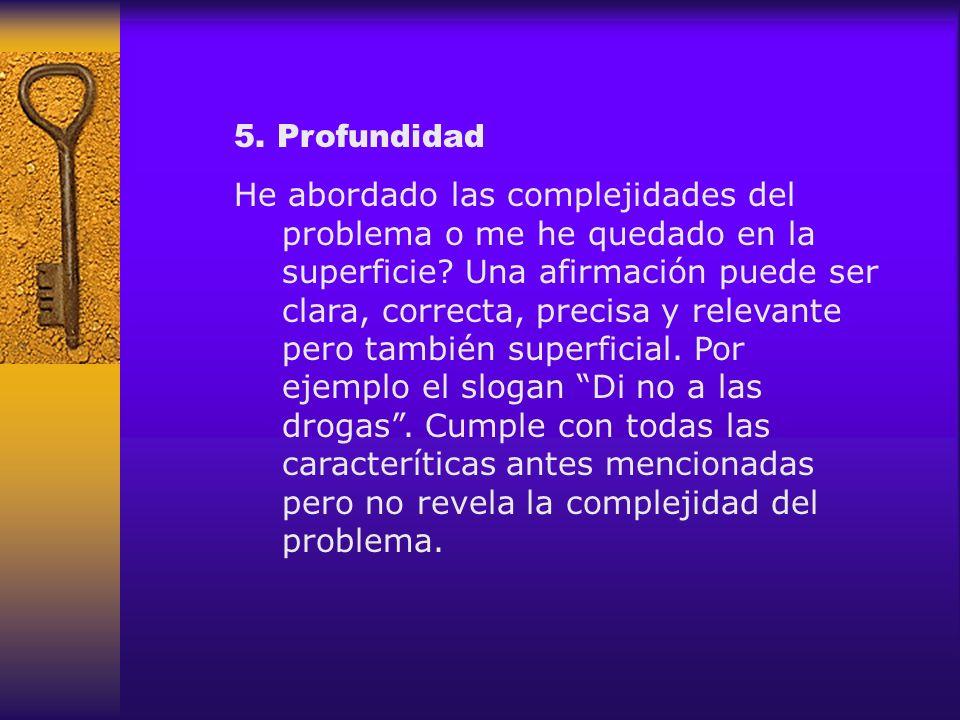 5. Profundidad