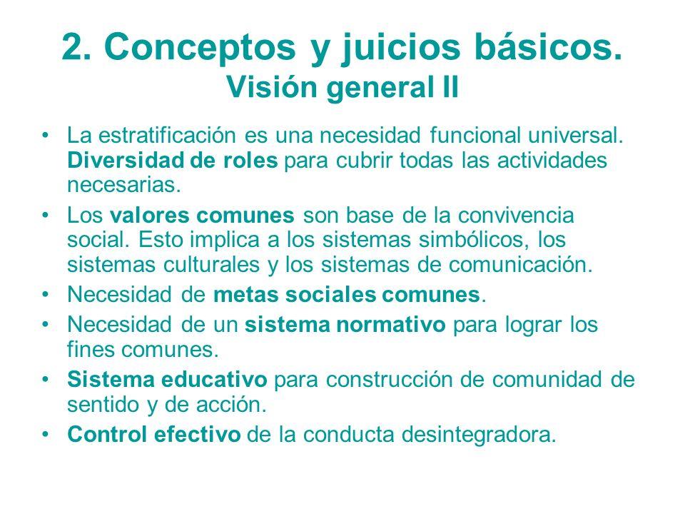 2. Conceptos y juicios básicos. Visión general II