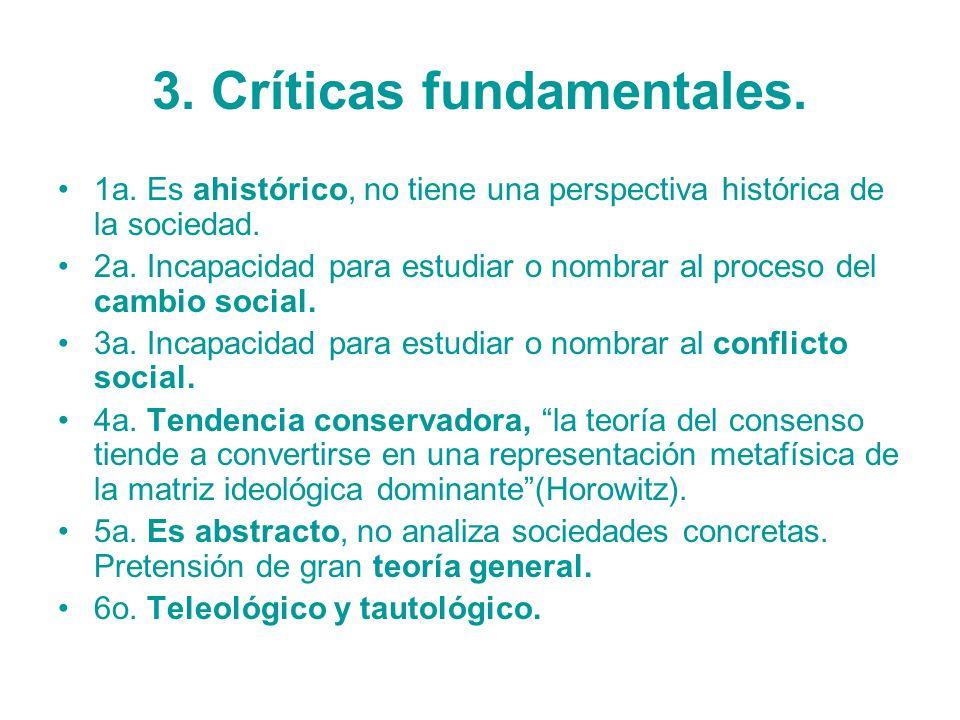3. Críticas fundamentales.