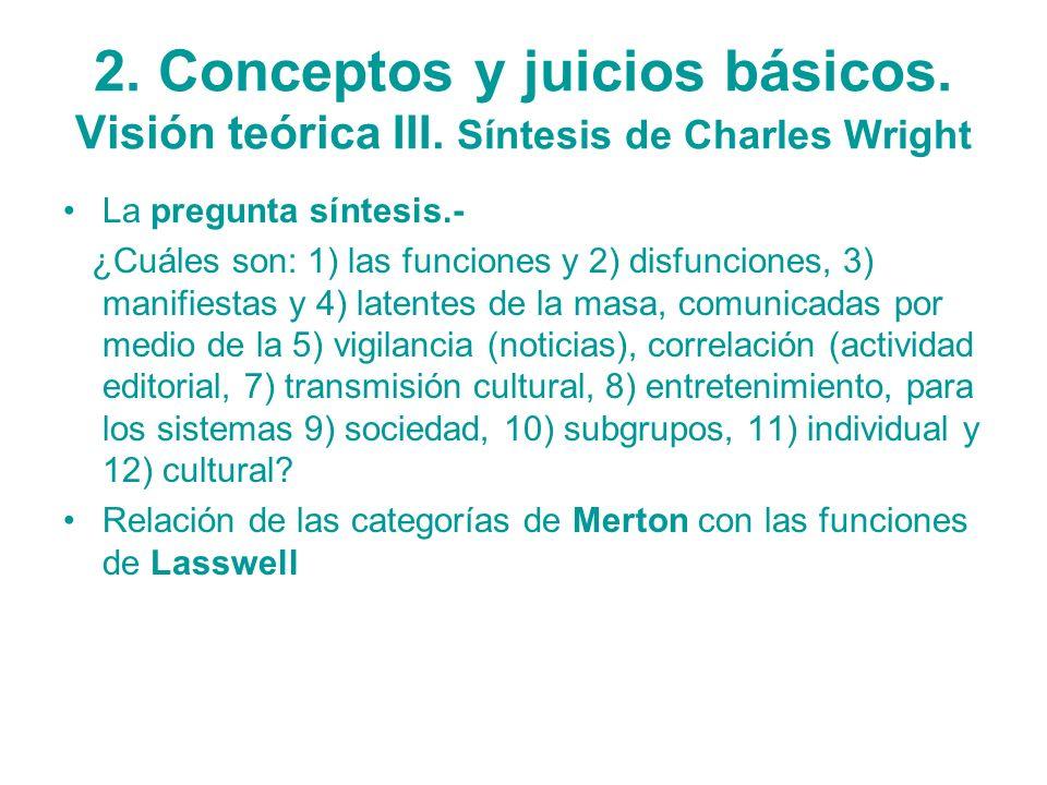 2. Conceptos y juicios básicos. Visión teórica III