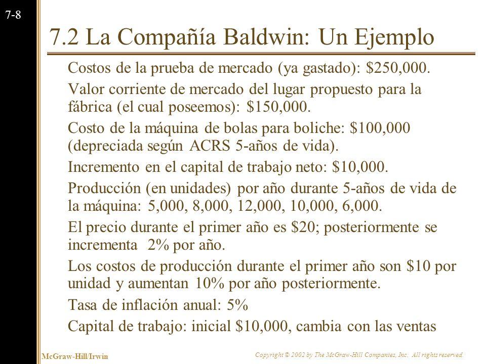 7.2 La Compañía Baldwin: Un Ejemplo