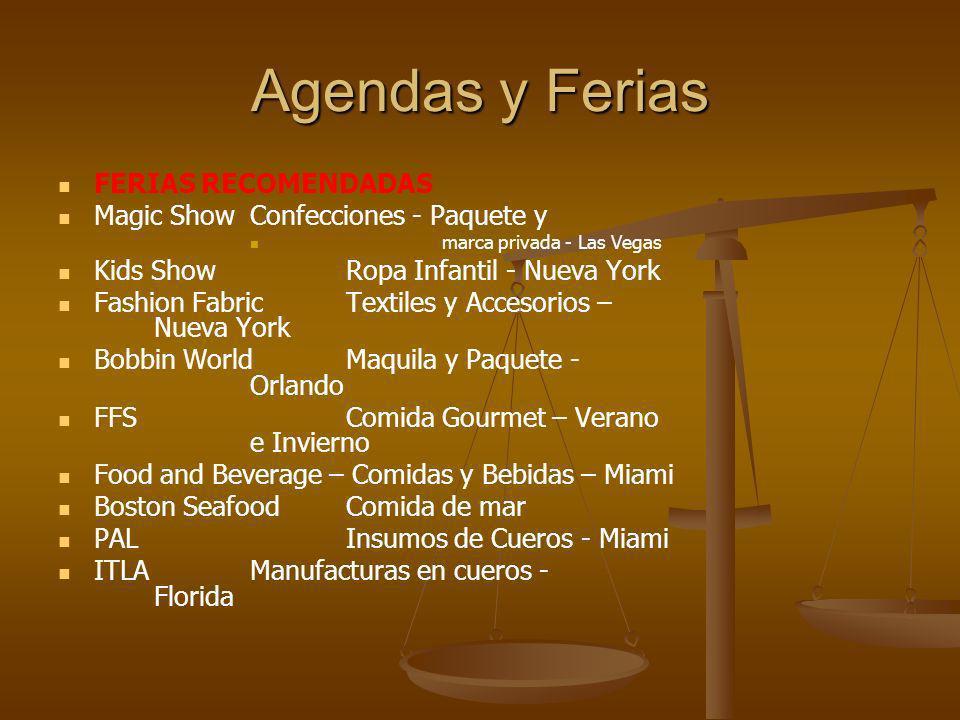 Agendas y Ferias FERIAS RECOMENDADAS