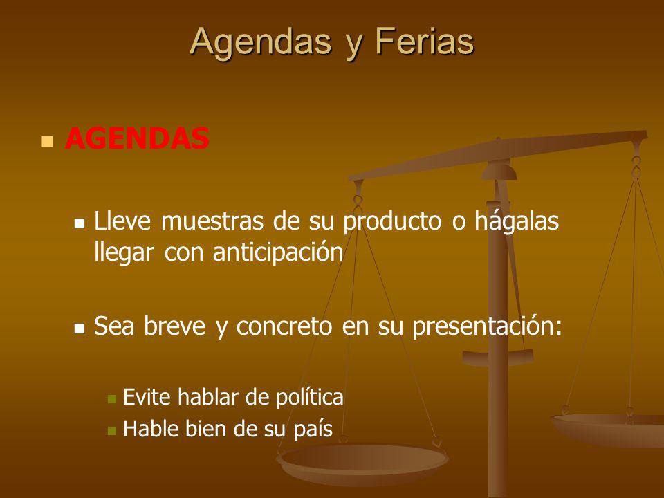 Agendas y Ferias AGENDAS