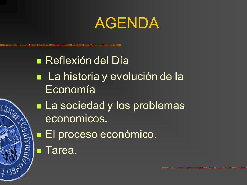 AGENDA Reflexión del Día La historia y evolución de la Economía