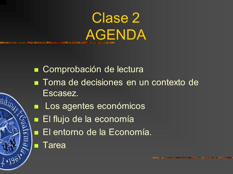 Clase 2 AGENDA Comprobación de lectura