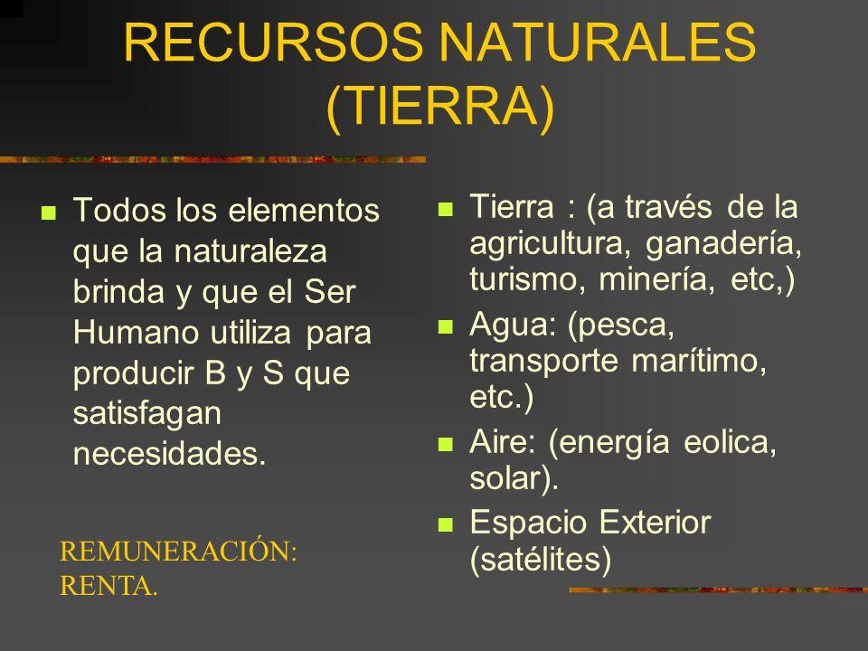RECURSOS NATURALES (TIERRA)