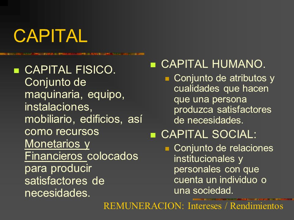 CAPITAL CAPITAL HUMANO.