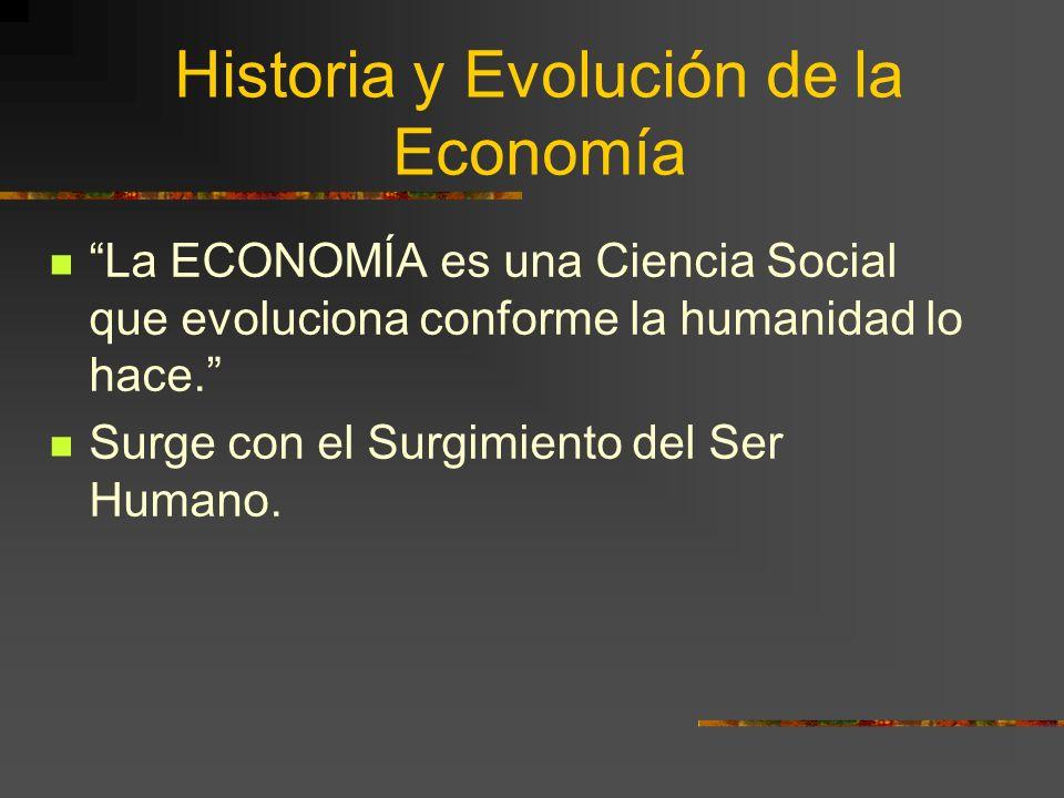 Historia y Evolución de la Economía
