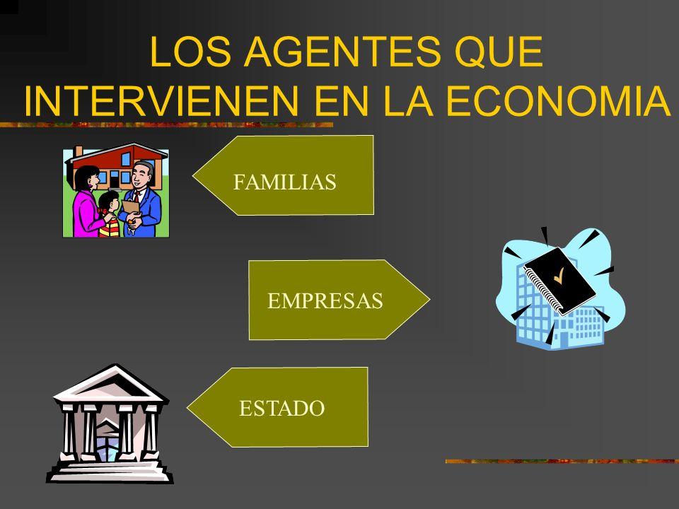 LOS AGENTES QUE INTERVIENEN EN LA ECONOMIA