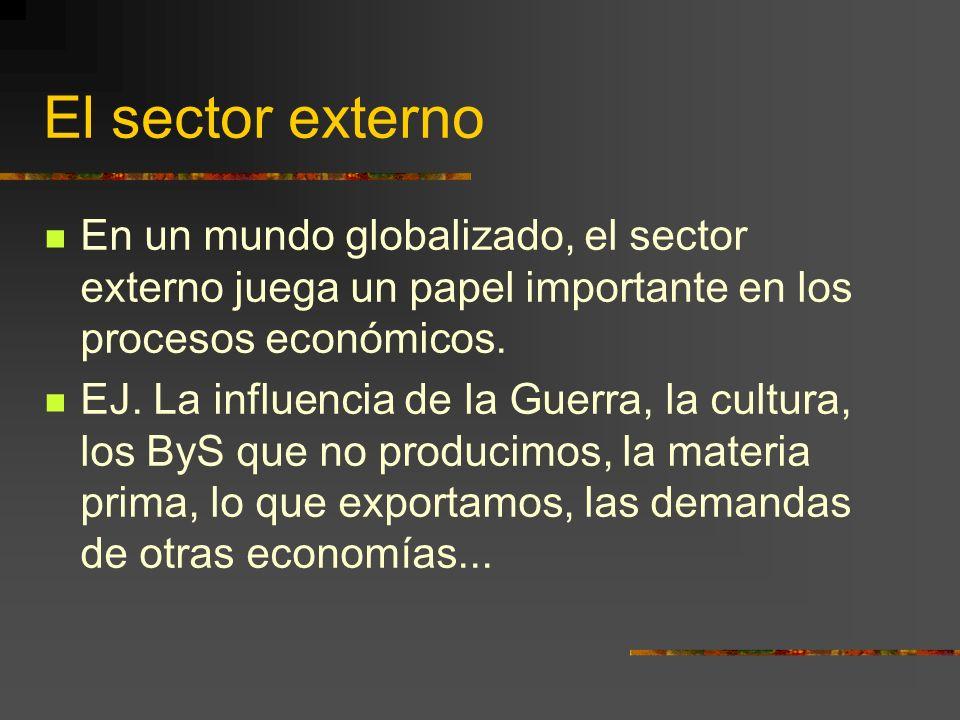 El sector externo En un mundo globalizado, el sector externo juega un papel importante en los procesos económicos.