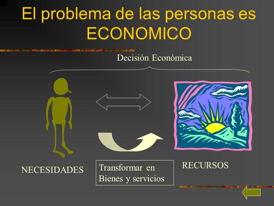 El problema de las personas es ECONOMICO