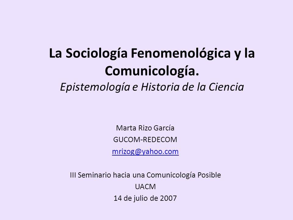 III Seminario hacia una Comunicología Posible