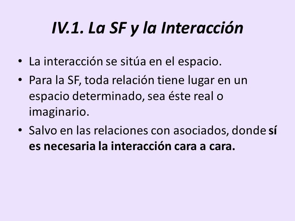 IV.1. La SF y la Interacción