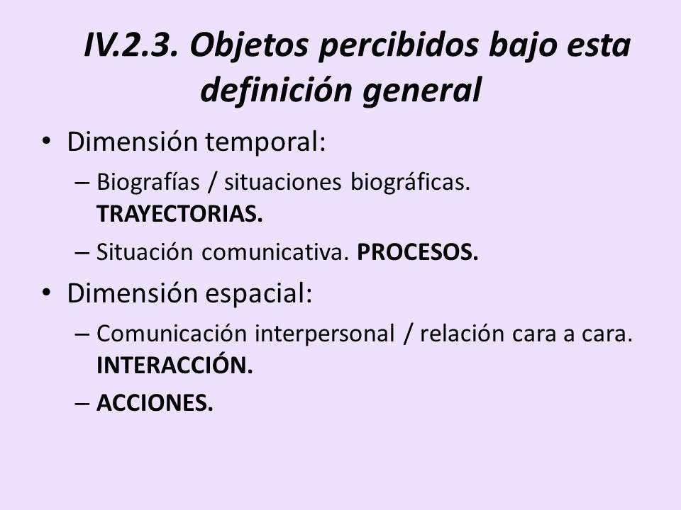 IV.2.3. Objetos percibidos bajo esta definición general