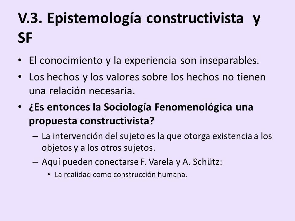 V.3. Epistemología constructivista y SF