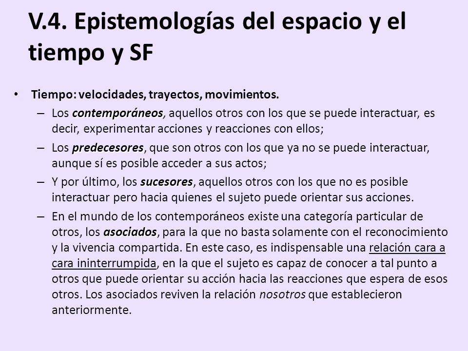 V.4. Epistemologías del espacio y el tiempo y SF
