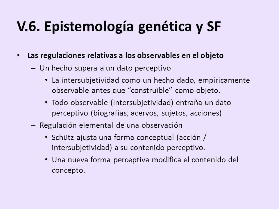 V.6. Epistemología genética y SF
