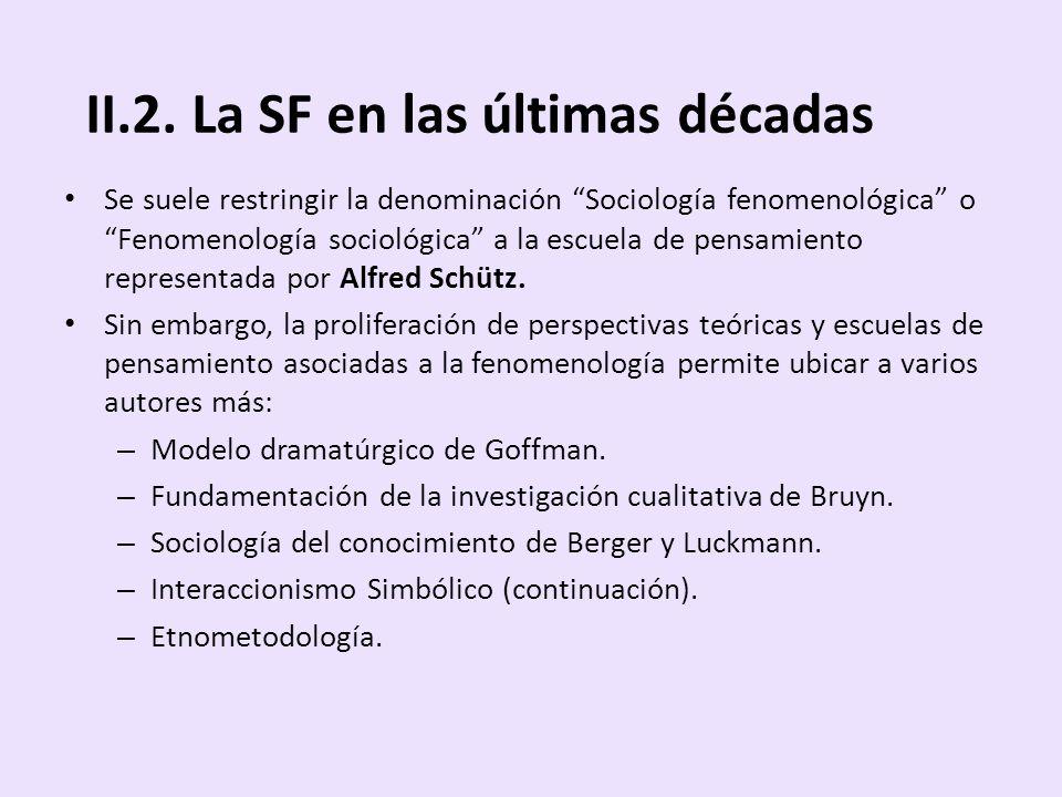 II.2. La SF en las últimas décadas