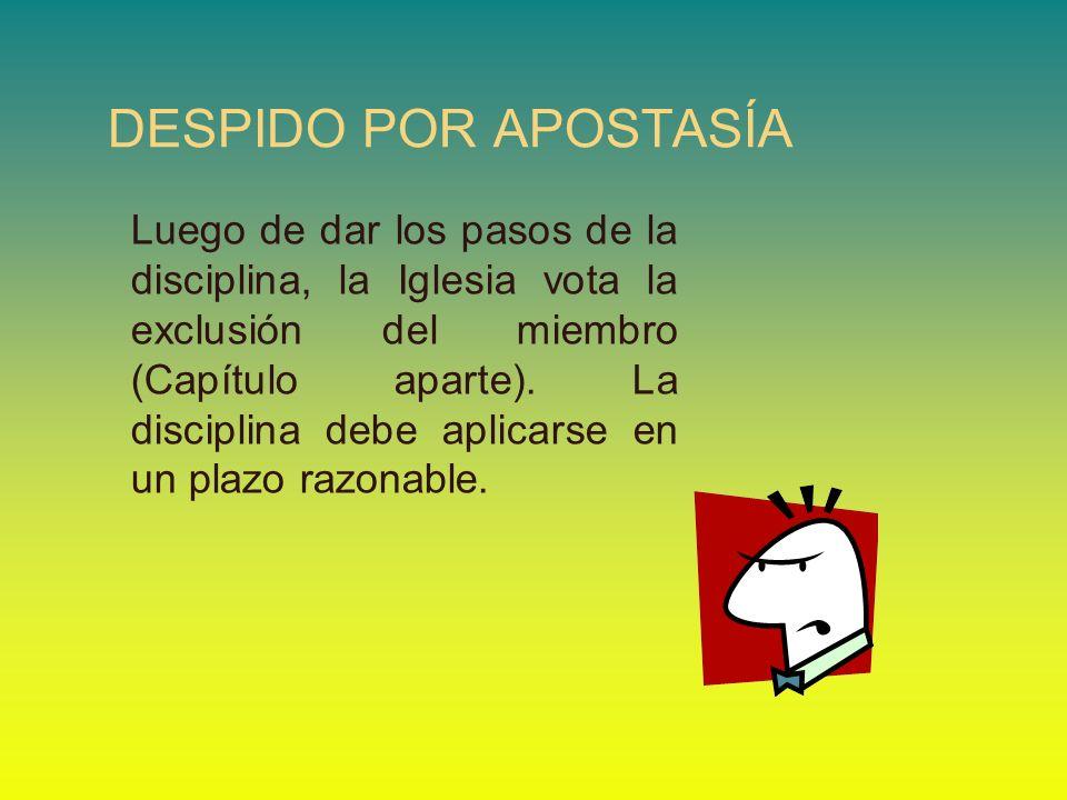 DESPIDO POR APOSTASÍA