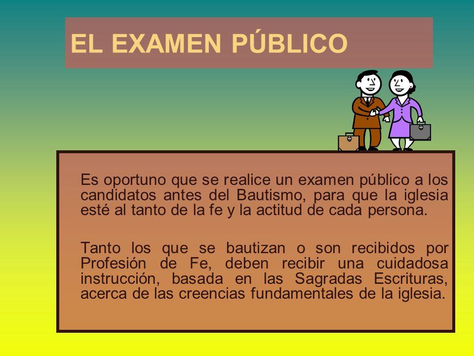EL EXAMEN PÚBLICO