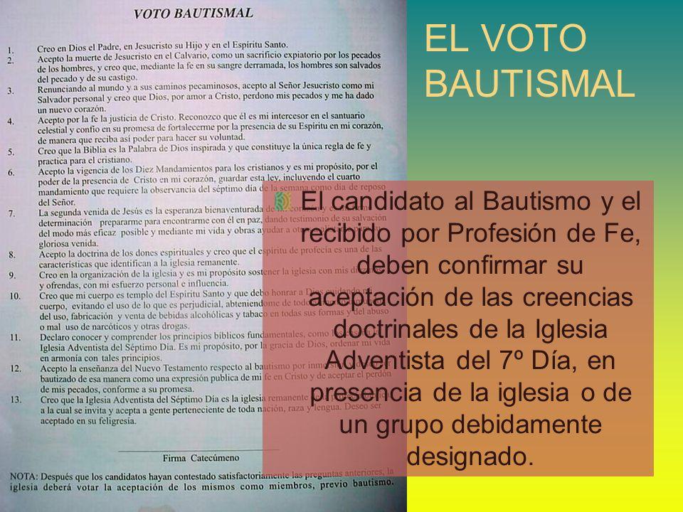 EL VOTO BAUTISMAL