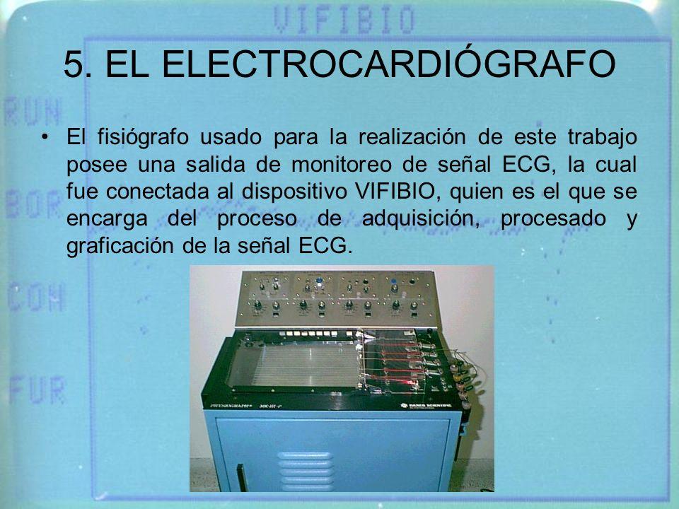 5. EL ELECTROCARDIÓGRAFO