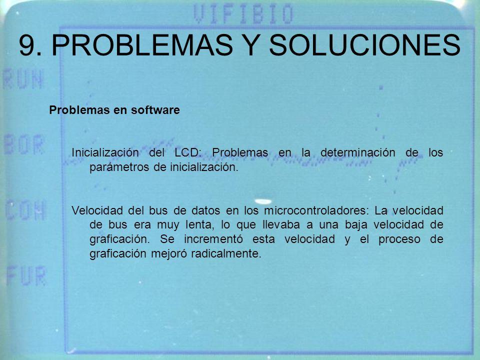9. PROBLEMAS Y SOLUCIONES