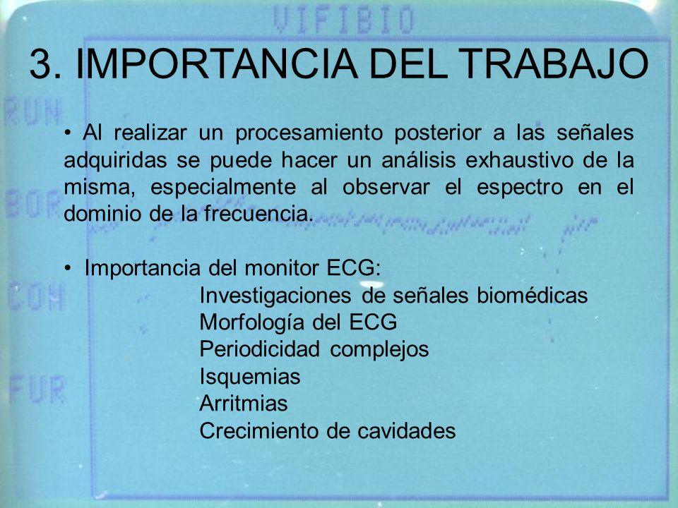 3. IMPORTANCIA DEL TRABAJO