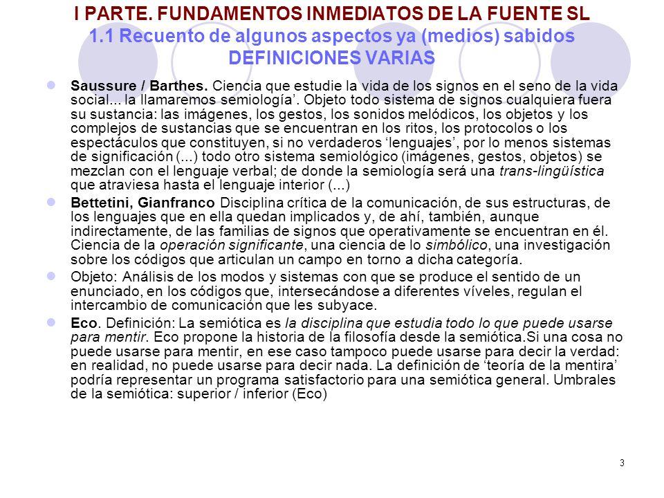 I PARTE. FUNDAMENTOS INMEDIATOS DE LA FUENTE SL 1