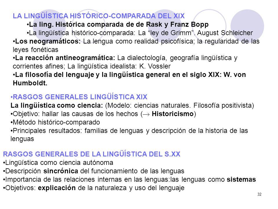 LA LINGÜÍSTICA HISTÓRICO-COMPARADA DEL XIX