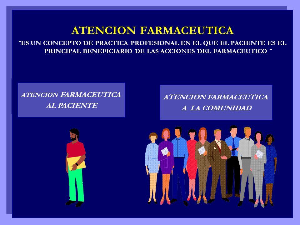 ATENCION FARMACEUTICA ATENCION FARMACEUTICA ATENCION FARMACEUTICA