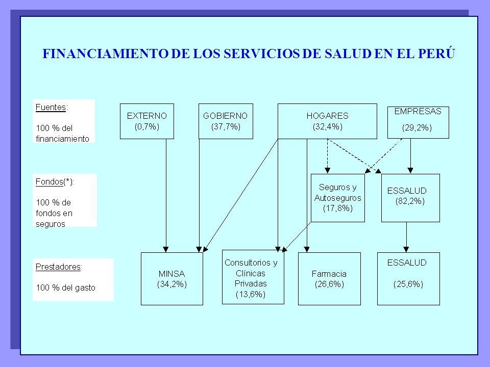 FINANCIAMIENTO DE LOS SERVICIOS DE SALUD EN EL PERÚ