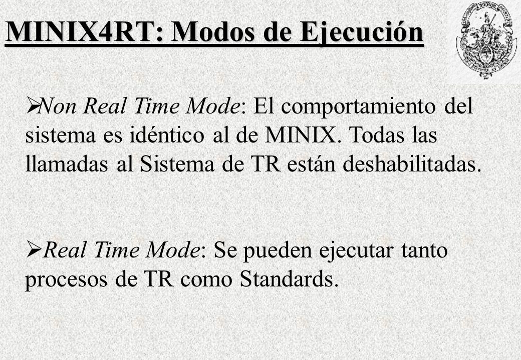 MINIX4RT: Modos de Ejecución