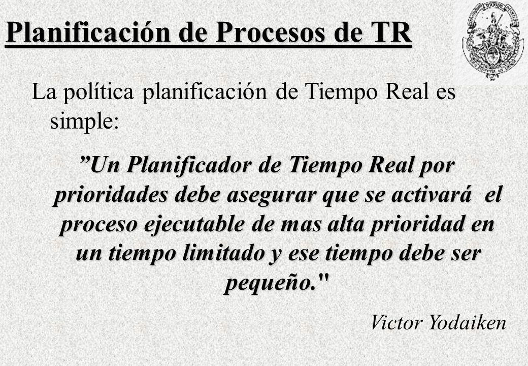 Planificación de Procesos de TR