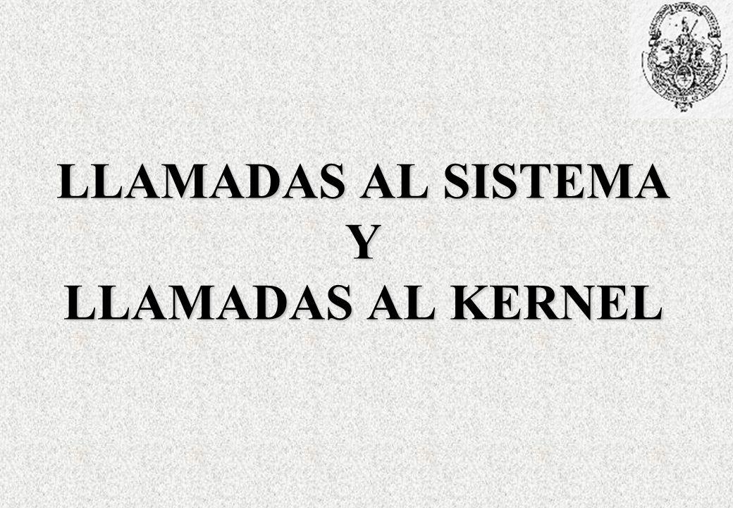 LLAMADAS AL SISTEMA Y LLAMADAS AL KERNEL