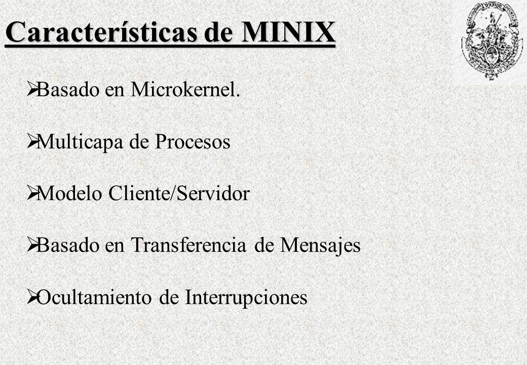 Características de MINIX