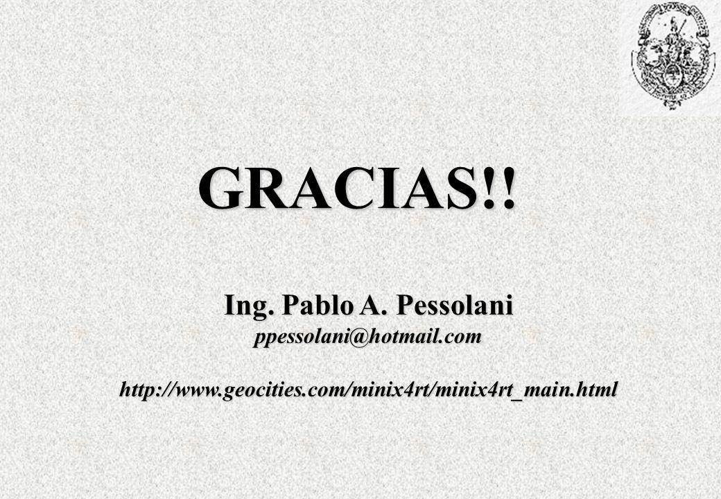 GRACIAS!! Ing. Pablo A. Pessolani ppessolani@hotmail.com