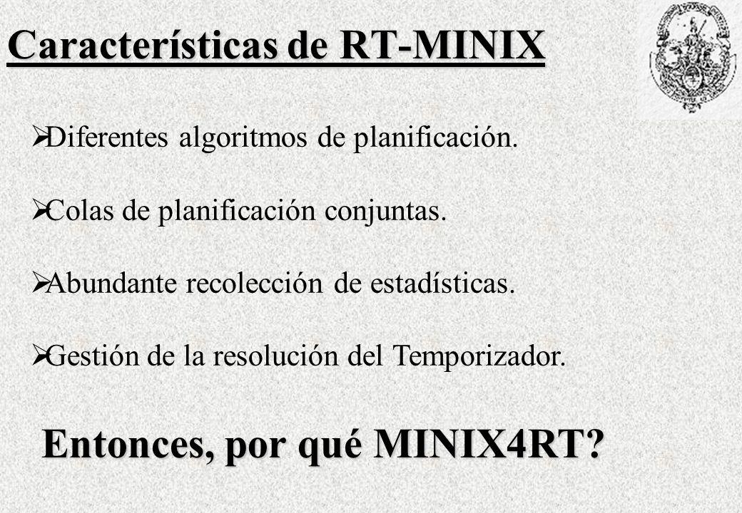 Características de RT-MINIX