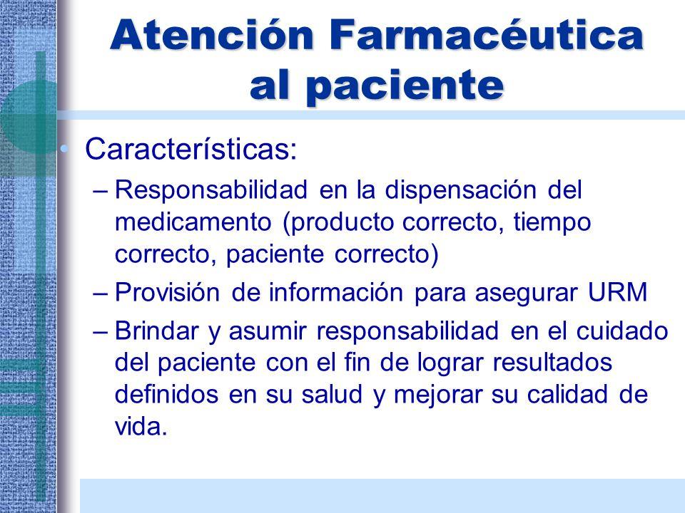 Atención Farmacéutica al paciente
