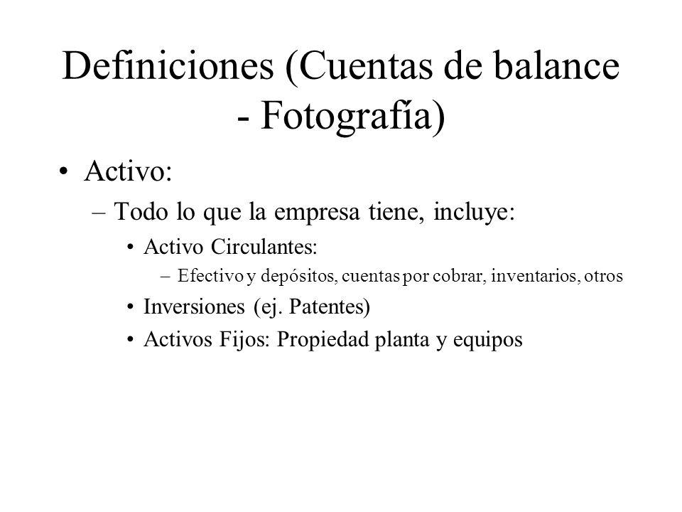 Definiciones (Cuentas de balance - Fotografía)
